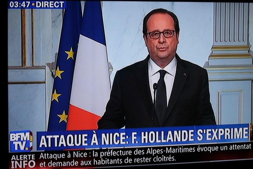 Przemówienie prezydenta Francji /AFP