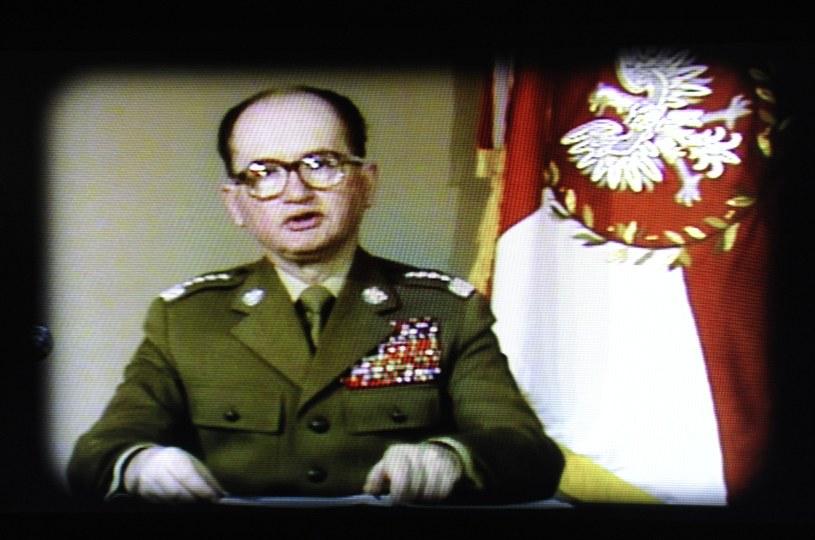 Przemówienie telewizyjne Wojciecha Jaruzelskiego informujące o wprowadzeniu stanu wojennego /Wojciech Stróżyk /Reporter