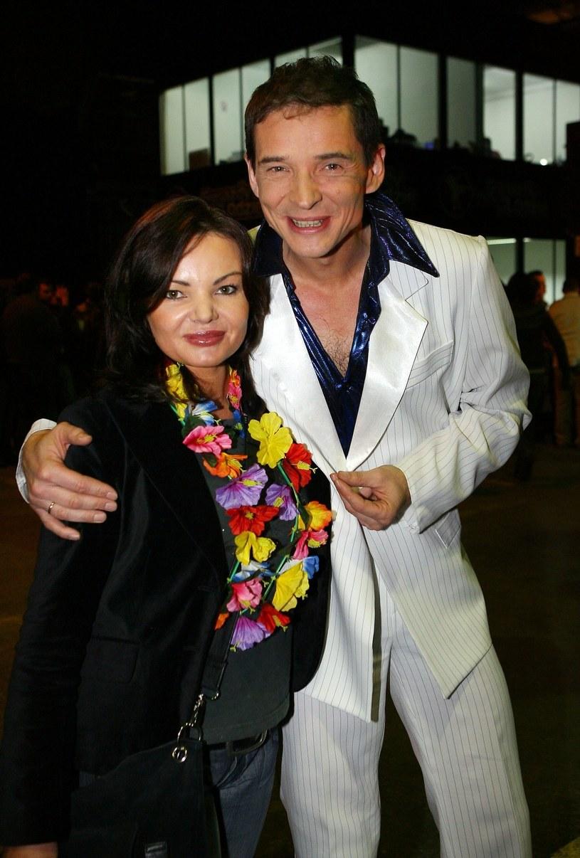 Przemysław Babiarz z żoną /Piotr Fotek/REPORTER /East News