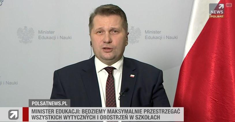 """Przemysław Czarnek w """"Gościu Wydarzeń"""" /Polsat News"""