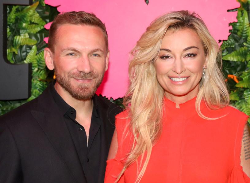 Przemysław Kossakowski i Martyna Wojciechowska na balu telewizji TVN we wrześniu 2018 roku /East News