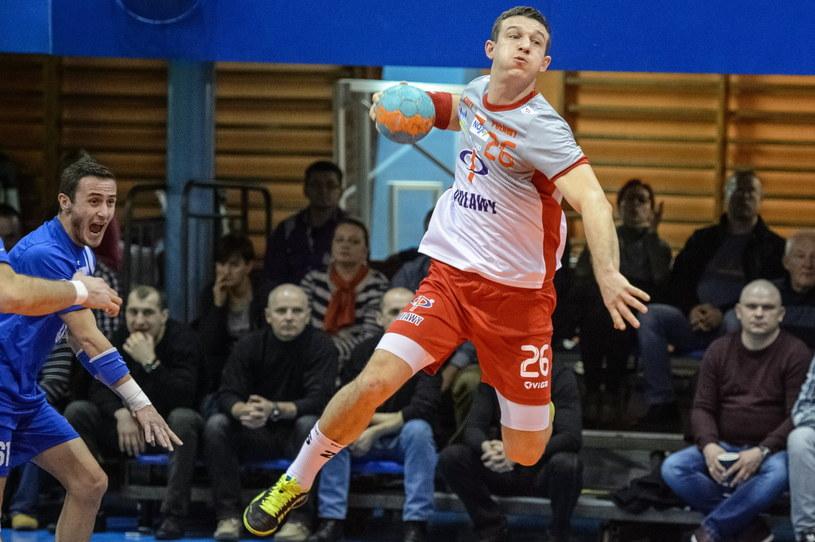 Przemysław Krajewski rzucił pięć goli /Fot. Wojciech Pacewicz /PAP