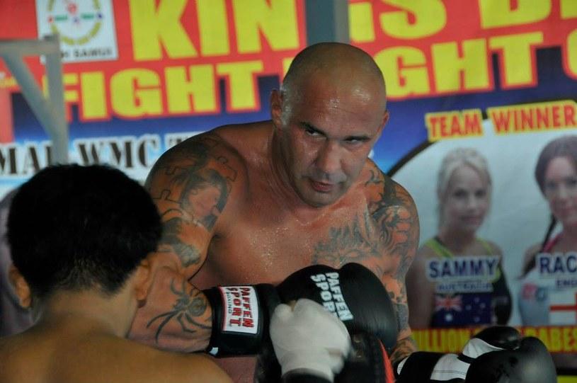 Przemysław Saleta na treningu w Lamai Muay Thai Camp, Fot: archiwum P. Salety /INTERIA.PL