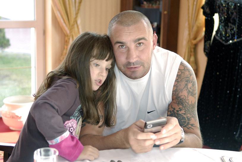 Przemysław Saleta z córką Nicole /Niemiec /AKPA