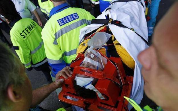 Przemysław Tytoń doznał silnego wstrząśniena mózgu podczas meczu z Ajaksem Amsterdam /PAP/EPA