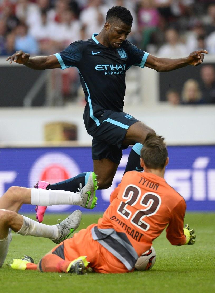 Przemysław Tytoń w sparingowym meczu z Manchesterem City /AFP