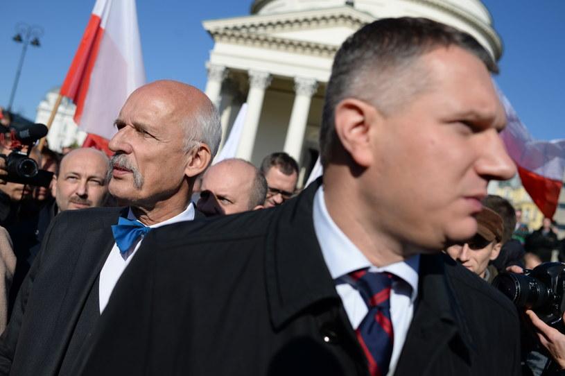 Przemysław Wipler i Janusz Korwin-Mikke /Jacek Turczyk /PAP