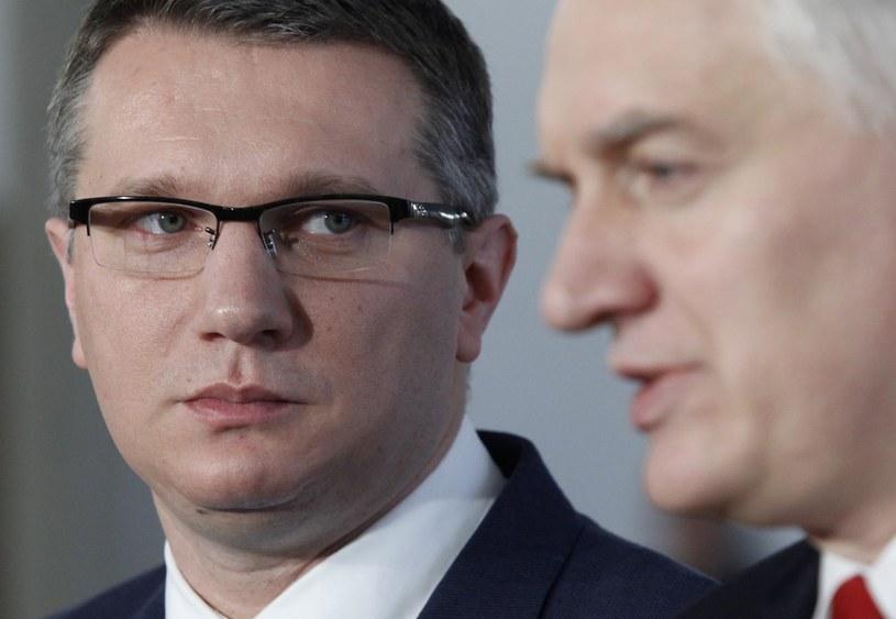 Przemysław Wipler i Jarosław Gowin /Stefan Maszewski /Reporter