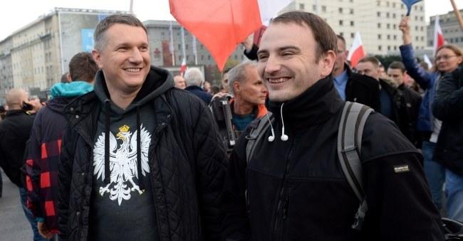 Przemysław Wipler na Marszu Niepodległości /PAP/Jacek Turczyk /PAP