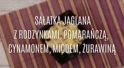 Przepis na sałatkę jaglaną z rodzynkami i żurawiną