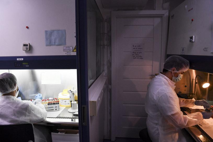 Przeprowadzanie testów na koronawirusa we francuskim laboratorium /AFP