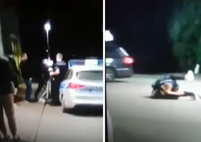 Przepychanki z policją na jednej ze stacji benzynowych w Zakopanem /Gazeta Krakowska
