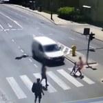 Przerażająca sytuacja na przejściu dla pieszych. Matka i 5-latek potrąceni