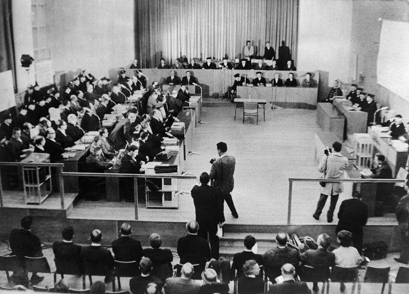 Przesłuchania podczas drugiego procesu oświęcimskiego, Frankfurt 1965 /Getty Images
