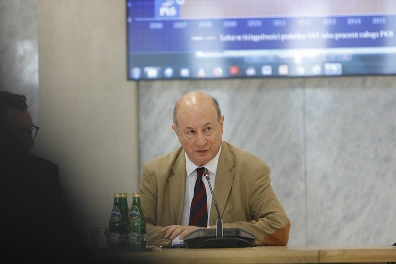 Przesłuchanie Jana Vincenta Rostowskiego przez komisję śledczą ds. VAT /Grzegorz Banaszek /Reporter