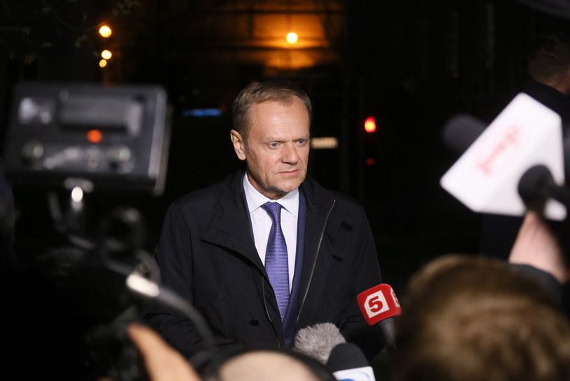 Przesłuchanie Tuska zakończyło się po godz. 20 Trwało ponad osiem godzin /Paweł Supernak /PAP