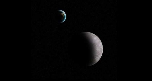 Przestrzeń pomiędzy Ziemią a Księżycem często naruszają małe planetoidy / Foto - K. Kanawka, /Kosmonauta
