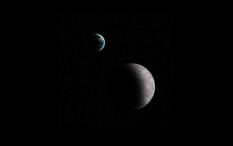 Przestrzeń pomiędzy Ziemią a Księżycem często naruszają małe planetoidy / Fot. - K. Kanawka, kosmonauta.net /Kosmonauta