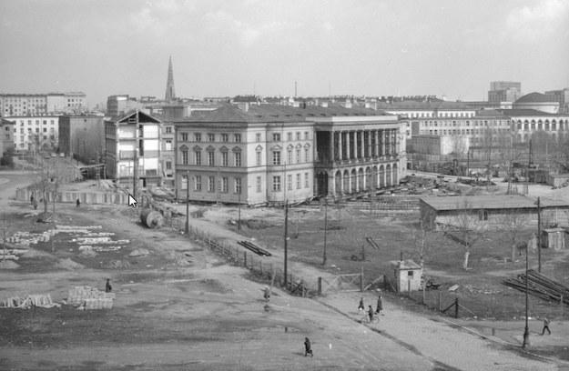 Przesuwanie Pałacu Lubomirskich w Warszawie. Etap drugi /Z archiwum Narodowego Archiwum Cyfrowego