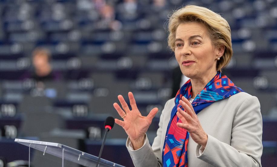 Przewodnicząca KE Ursula von der Leyen /Patrick Seeger  /PAP/EPA