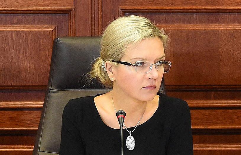 Przewodnicząca komisji ds. Amber Gold Małgorzata Wassermann /PAP