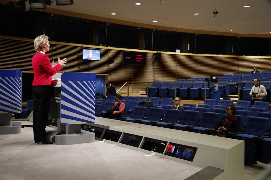 Przewodnicząca Komisji Europejskiej Ursula von der Leyen / FRANCOIS LENOIR / POOL / AFP /PAP/EPA
