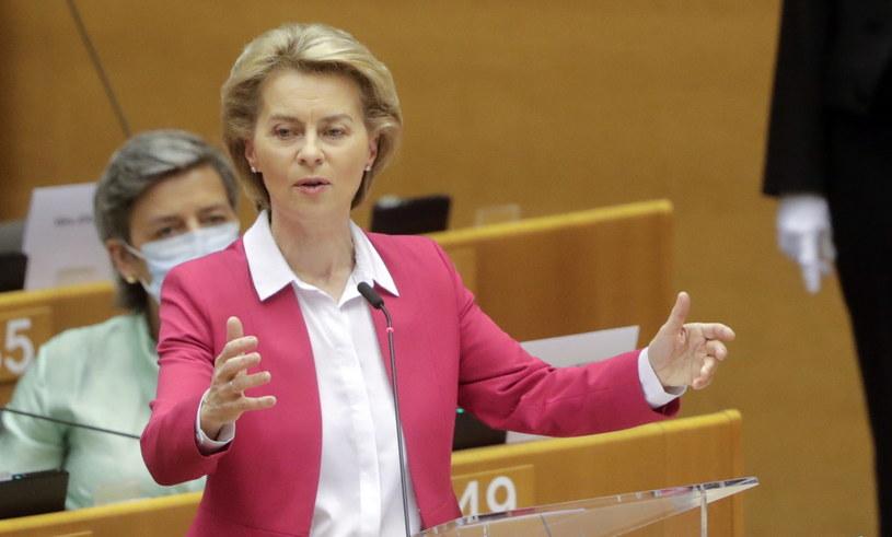 Przewodnicząca Komisji Europejskiej Ursula von der Leyen /OLIVIER HOSLET /PAP/EPA