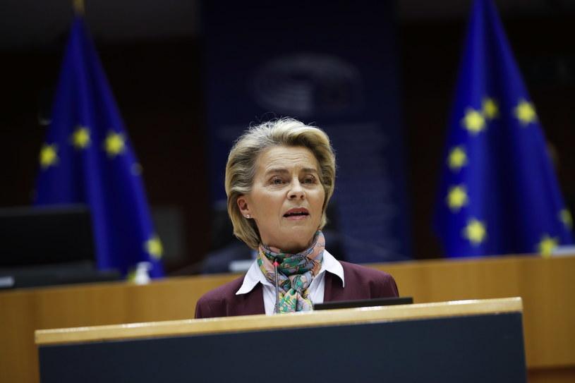 Przewodnicząca Komisji Europejskiej Ursula von der Leyen /Francisco Seco /PAP/EPA