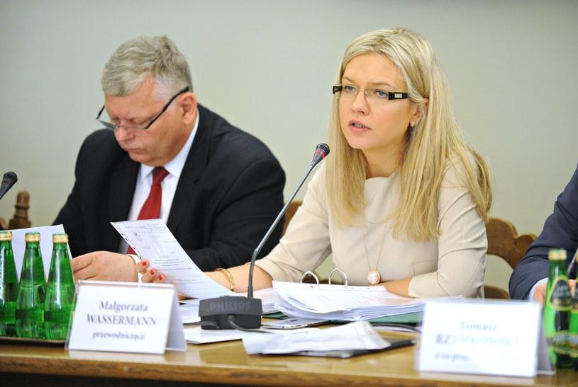 Przewodnicząca komisji Małgorzata Wassermann /Bartosz Krupa /East News