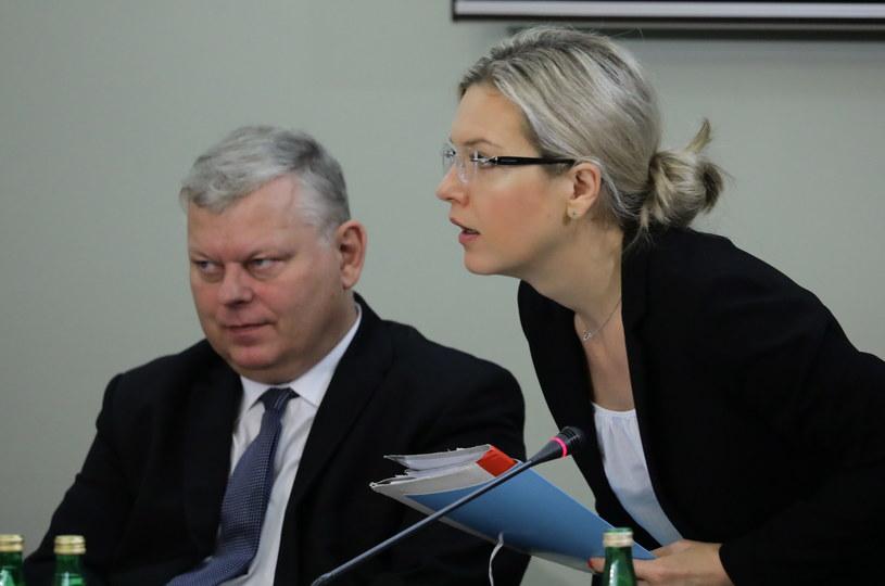 Przewodnicząca komisji, posłanka PiS Małgorzata Wassermann i poseł PiS Marek Suski /Tomasz Gzell /PAP