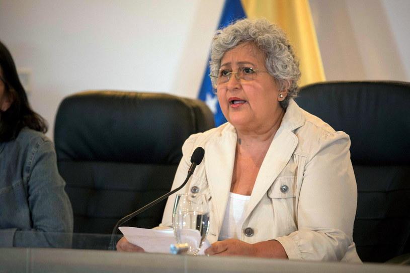 Przewodnicząca Krajowej Rady Wyborczej Wenezueli Tibisay Lucena /RAYNER PENA /PAP/EPA