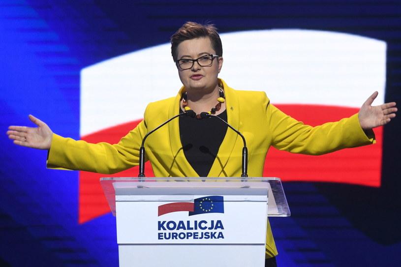 Przewodnicząca partii Nowoczesna Katarzyna Lubnauer przemawia podczas konwencji Koalicji Europejskiej /Radek  Pietruszka /PAP