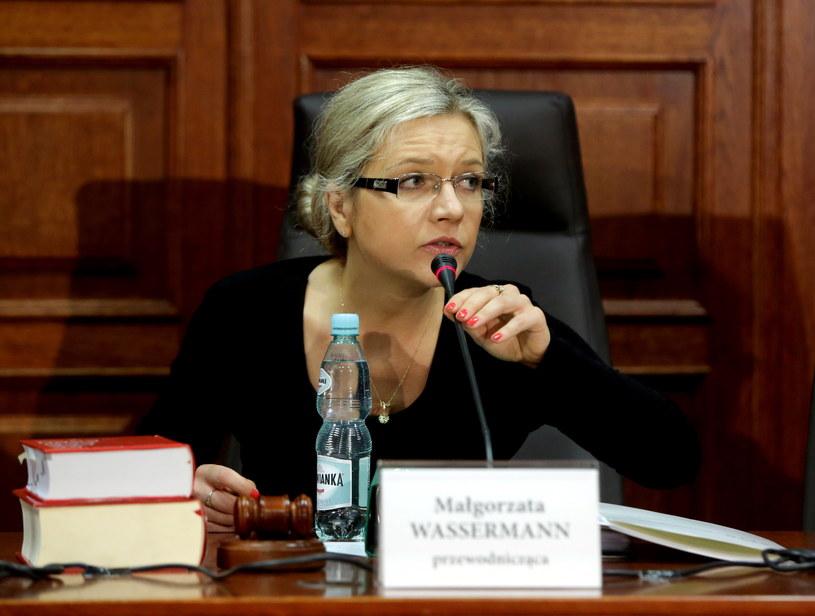 Przewodnicząca sejmowej Komisji śledczej ds. Amber Gold Małgorzata Wassermann /Tomasz Gzell /PAP