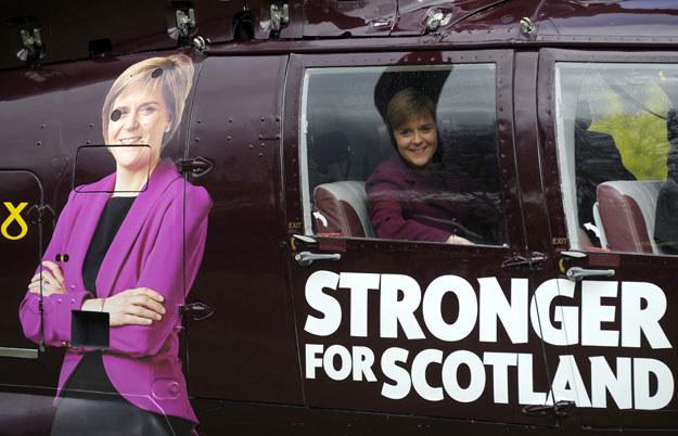 Przewodnicząca Szkockiej Partii Narodowej Nicola Sturgeon fot. Andy Buchanan /AFP