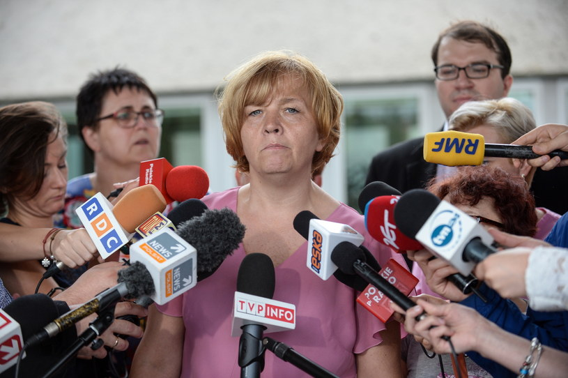 Przewodnicząca Związku Zawodowego Pielęgniarek i Położnych przy CZD Magdalena Nasiłowska /Marcin Obara /PAP