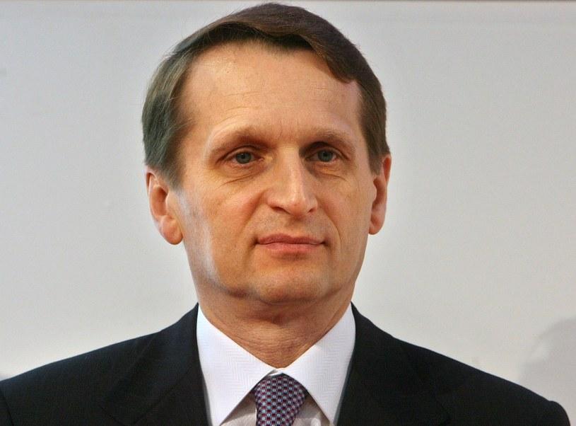 Przewodniczący Dumy Państwowej Siergiej Naryszkin. /AFP
