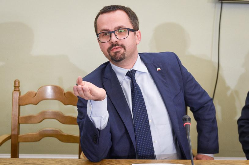 Przewodniczący komisji śledczej ds. VAT Marcin Horała /Jacek Domiński /Reporter