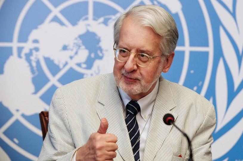 Przewodniczący komisji śledczej ONZ ds. praw człowieka w Syrii Paulo Pinheiro /AFP