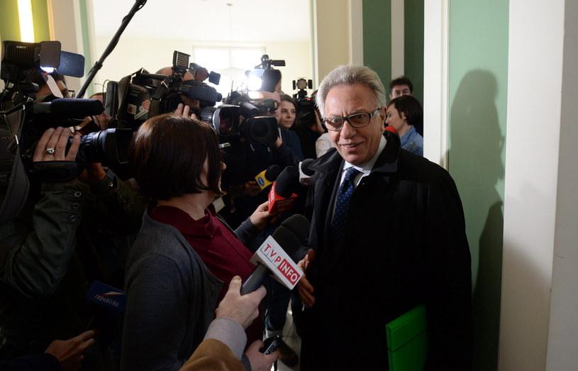 Przewodniczący Komisji Weneckiej Gianni Buquicchio /Bartłomiej Zborowski /PAP