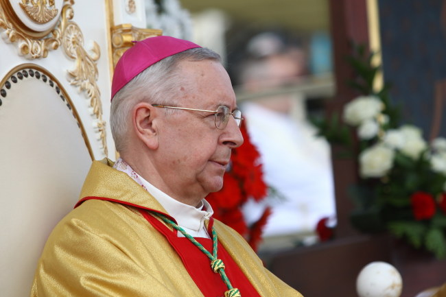 Przewodniczący Konferencji Episkopatu Polski i metropolita poznański abp Stanisław Gądecki /Waldemar Deska /PAP
