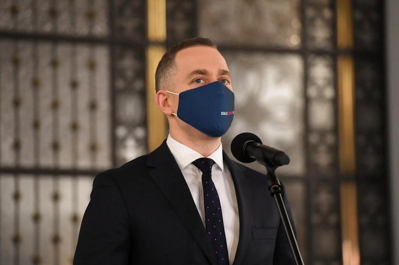 Przewodniczący KP KO Cezary Tomczyk /Piotr Nowak /PAP