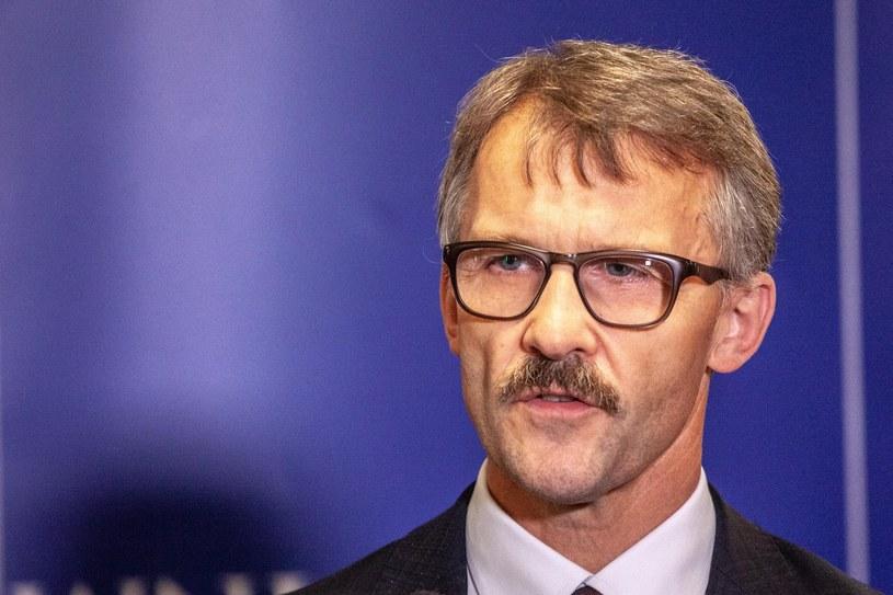 Przewodniczący Krajowej Rady Sądownictwa Leszek Mazur /Grzegorz Banaszek /Reporter