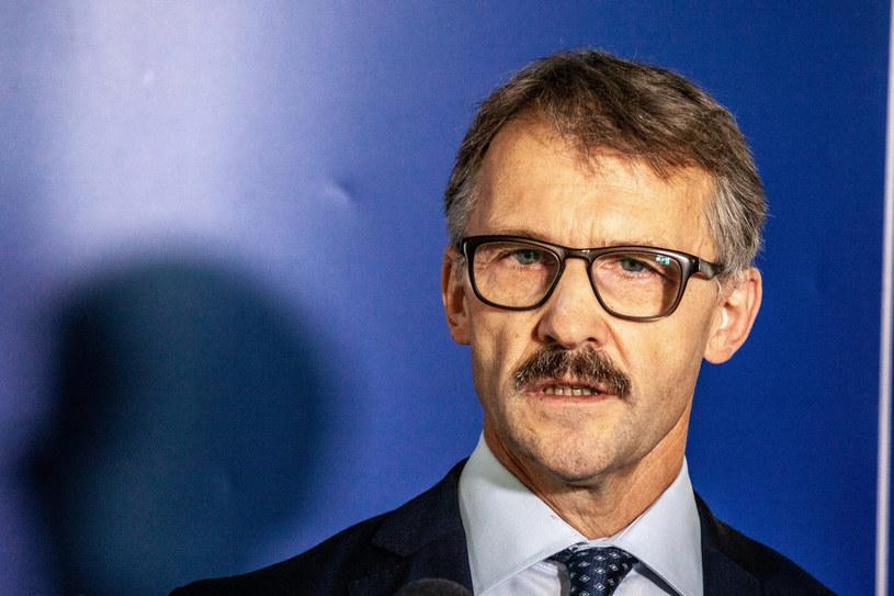 Przewodniczący KRS sędzia Leszek Mazur. /Grzegorz Banaszak /Reporter
