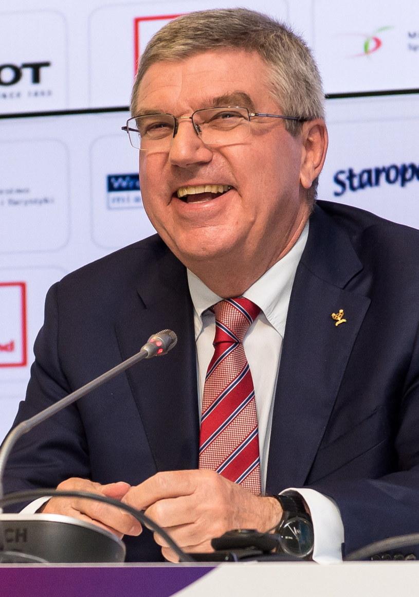 Przewodniczący Międzynarodowego Komitetu Olimpijskiego (MKOl) Thomas Bach /Maciej Kulczyński /PAP