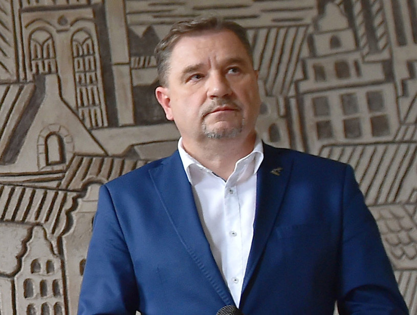 """Przewodniczący NSZZ """"Solidarność"""" Piotr Duda /Marcin Gadomski /PAP"""