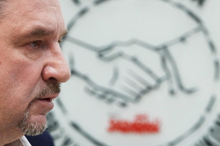 """Przewodniczący NSZZ """"Solidarność"""" Piotr Duda / Adam Warżawa    /PAP"""