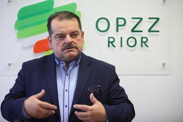 Przewodniczący OPZZ RiOR Sławomir Izdebski /PAP