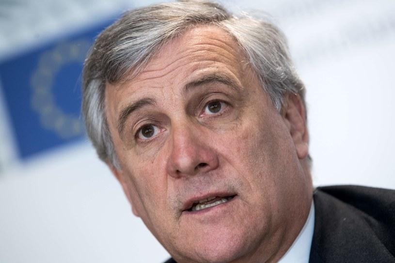 Przewodniczący Parlamentu Europejskiego Antonio Tajani /AFP
