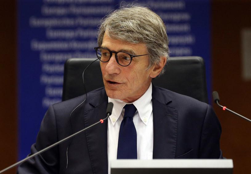 Przewodniczący Parlamentu Europejskiego David Sassoli /FRANCOIS WALSCHAERTS / POOL /AFP