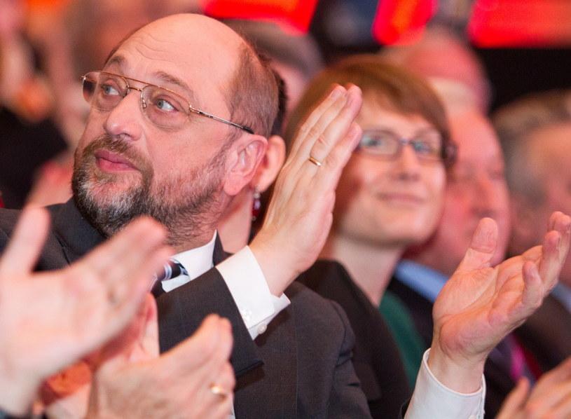 Przewodniczący Parlamentu Europejskiego Martin Schulz, podczas konwencji SLD. /Andrzej Grygiel /PAP